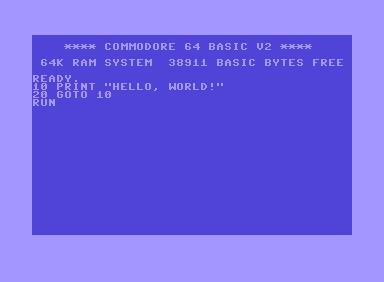 Hello World na C64