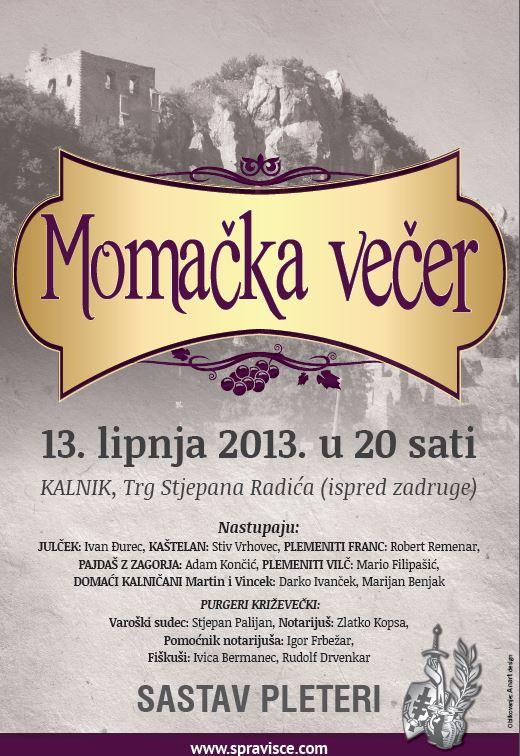 plakat_momačka_večer_Kalnik_Spravišče