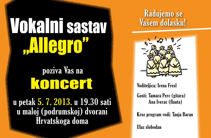 Allegro POZIVNICA za koncert 2013