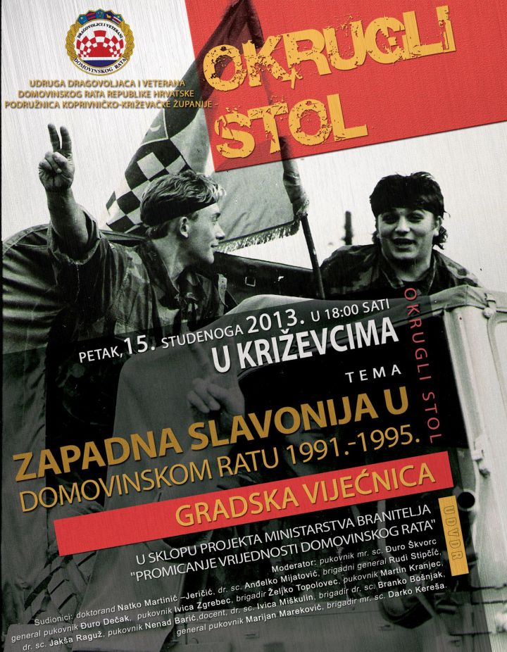 Plakat_okrugli_stol_Domovinski_rat_design_Radotovic