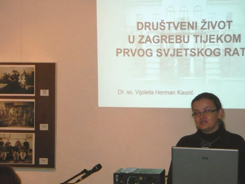 Noć muzeja 2014 - predavačica Vijoleta Herman Kaurić