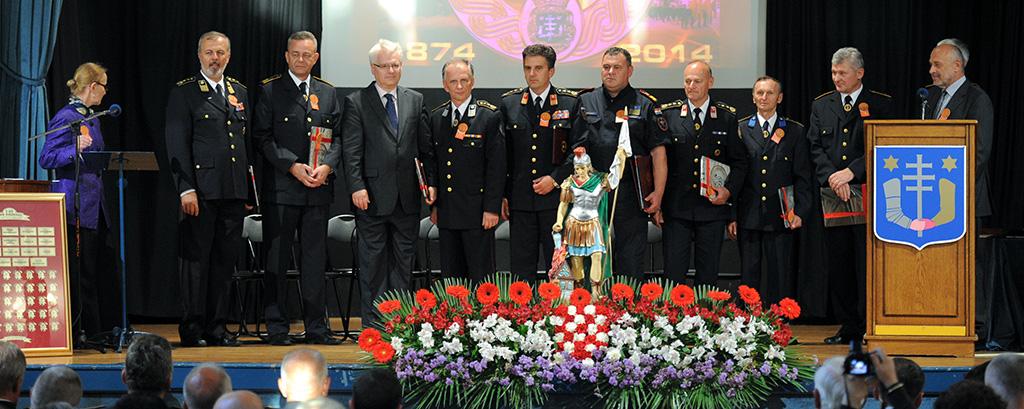 Predsjedink Josipović i Dobrovoljno vatrogasno društvo (DVD) Križevci