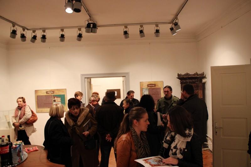 Ugođaj na otvorenju izložbe o Franji Markoviću u Likovnoj galeriji u Križevcima