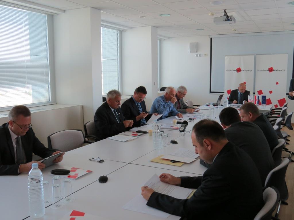 Najava 32. sjednice Izvršnog odbora Hrvatske zajednice županije