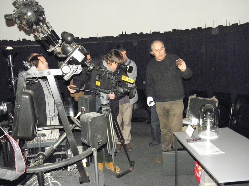 Konferencija za medije o križevačkom meteoritu u Planetariju Tehničkog muzeja u Zagrebu 11. prosinca 2014. (foto: R.Matić)