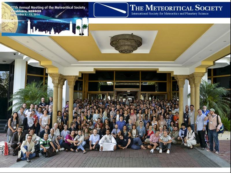Sudionici kongresa u Casablanci u rujnu 2014. na kojem su objavljeni rezultati istraživanja meteorita Križevci