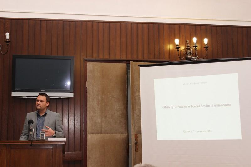 O osnivanju hrvatske loze obitelji Sermage govori dr.sc. Vladimir Huzjan 18. prosinca 2014.