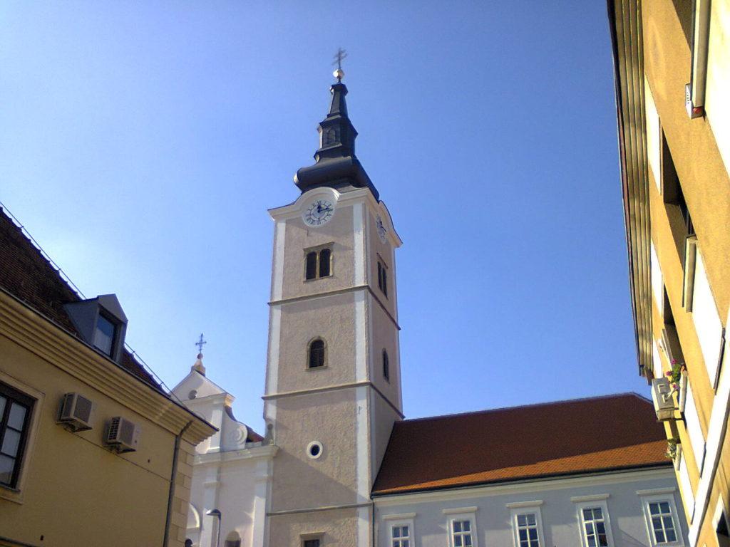Pogled na trajni podsjetnik na prisustvo pavlina u Križevcima - crkva sv. Ane (foto: R.Matić)