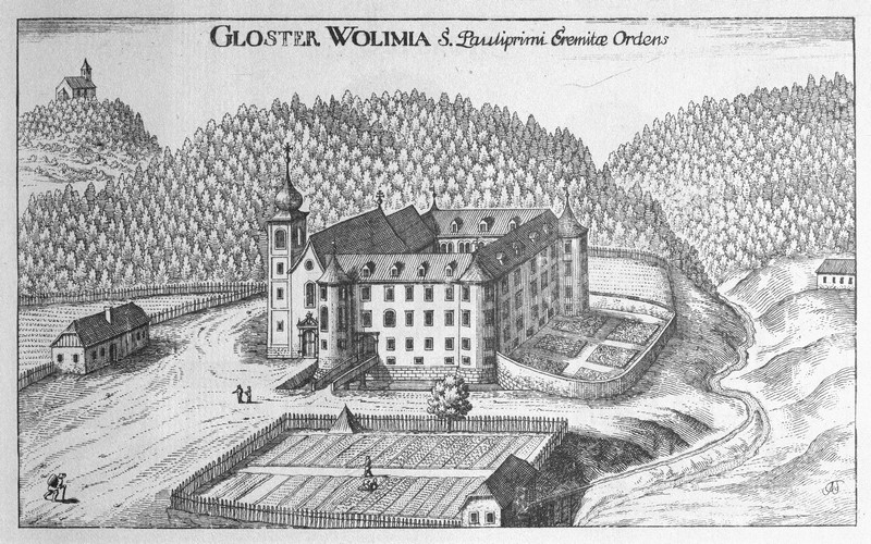 Olimje u Sloveniji nekoliko godina nakon što je zahvaljujući Ivanu Zakmardiju Dijankovečkom preuređeno u pavlinski samostan (izvor: Georg Matthäus Vischer, Topographia Ducatus Stiriae, Gradec 1681)