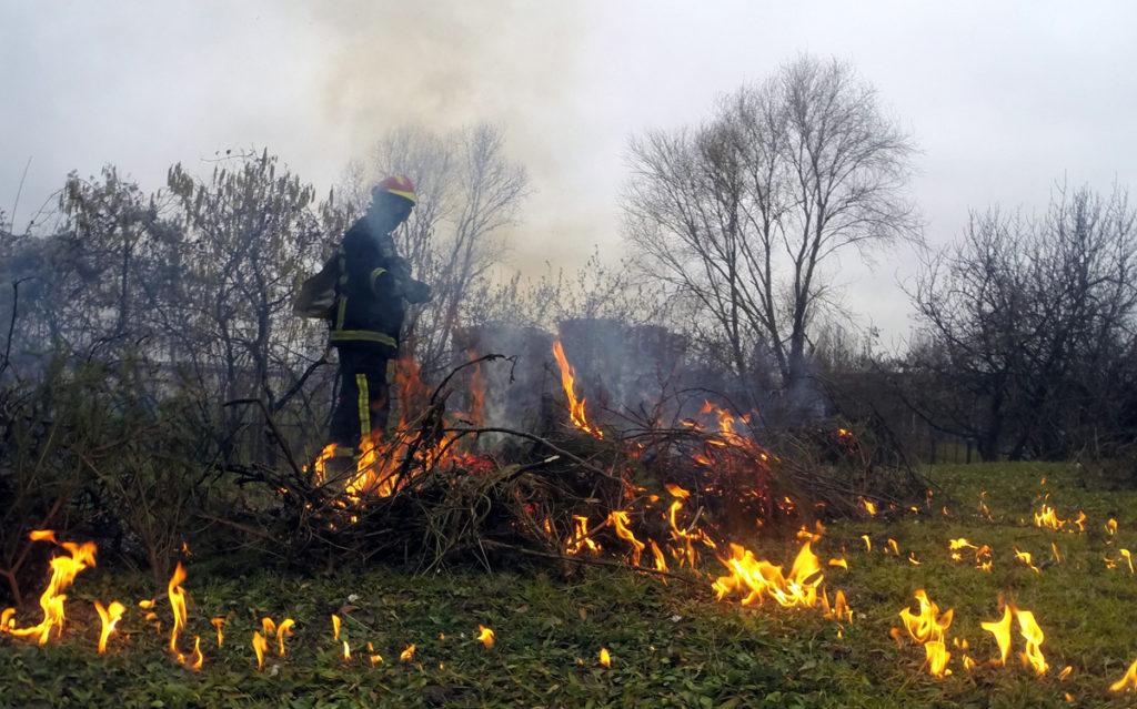 spaljivanje biljnog otpada 2_vatrogasci