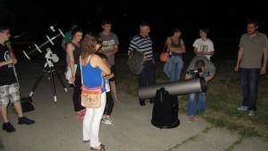 Nakon tribine o meteoritu slijedi promatranje neba (foto: R.Matić)