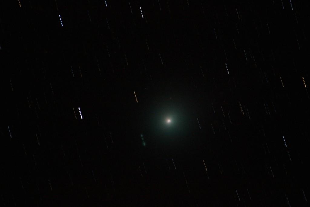 Komet Lovejoy snimljen sa Stražinca 20. veljače 2015. (foto: Martin Vujić, Perzeidi)