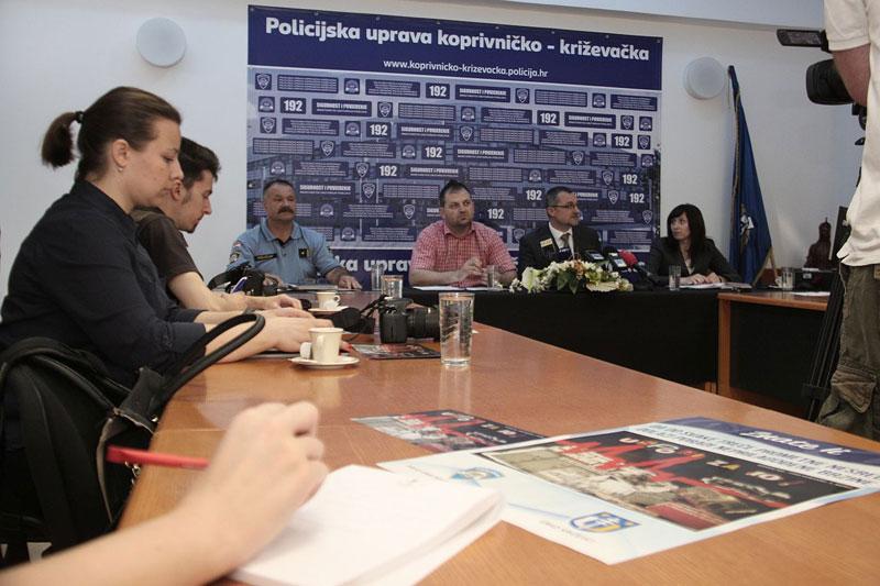 Policijska uprava koprivničko – križevačka danas je, 8. svibnja, održala redovnu mjesečnu konferenciju za novinare