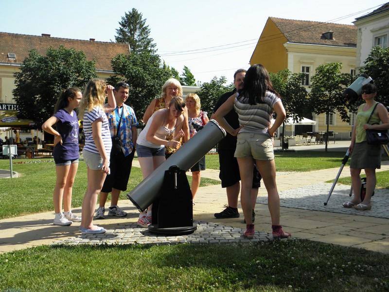 Perzeidi s teleskopima 13. lipnja na Križevačkom velikom spravišču (foto: R.Matić)