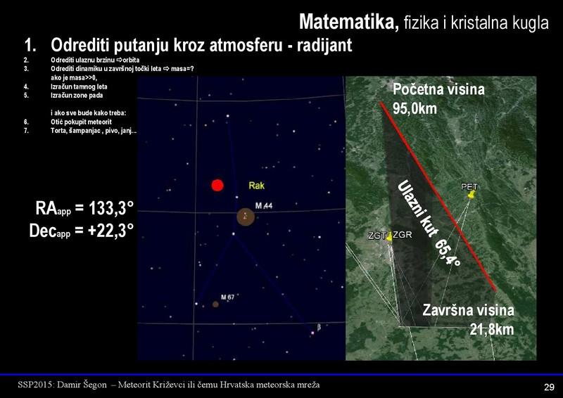 Uz najavu velikog skupa o križevačkom meteoritu 18. lipnja, ilustracija iz prezentacije Damira Šegona s kojom će nastupiti na skupu