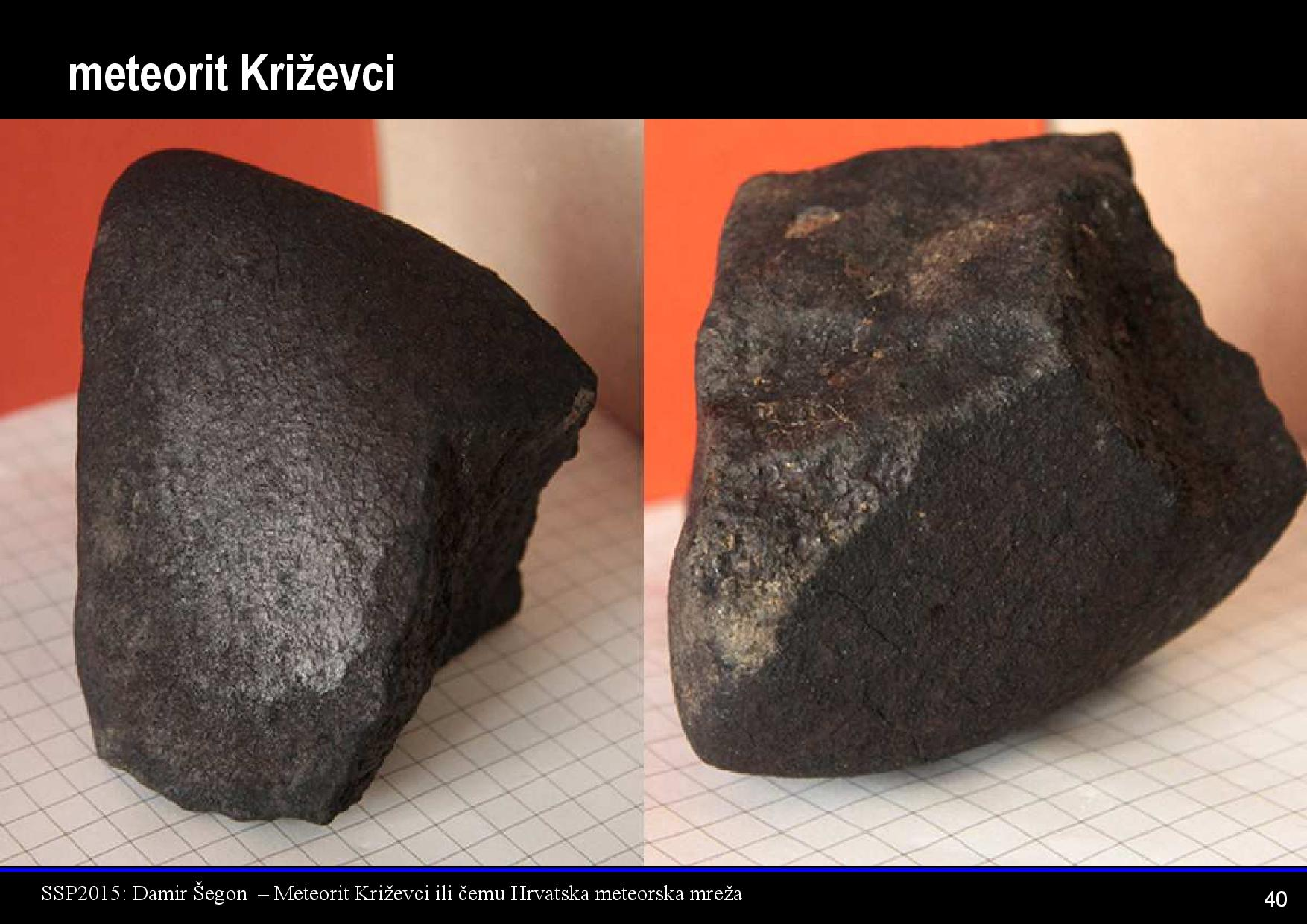 Meteorit Križevci (iz prezentacije jednoga od predavača, Damira Šegona)