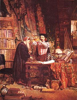 Alkemičar, djelo Sira Williama Fettesa Douglasa iz 1853. (izvor hr.wikipedia.org)