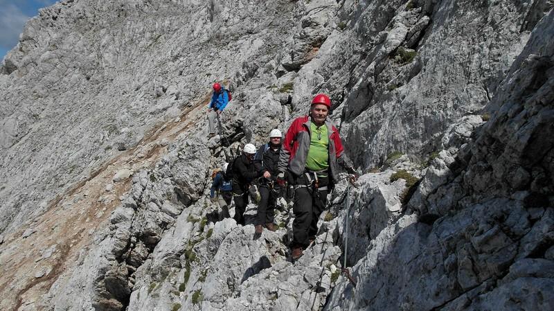 Križevački planinari u usponu na Špik u Julijskim alpama u Sloveniji na visinu 2472 metra, 22. kolovoza 2015. (foto: Alojz-Cetl)