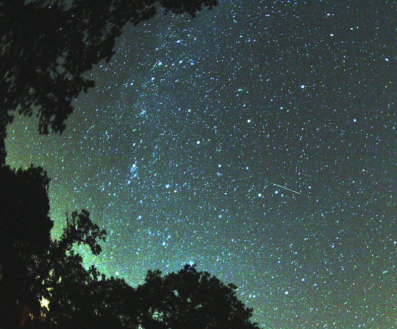 Meteor iz roja Perzeidi (preuzeto s hr.wikipedia.org)