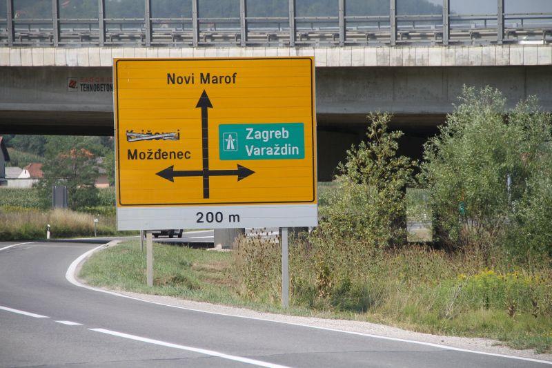 Cesta D22 koja spaja Novi Marof s Križevcima