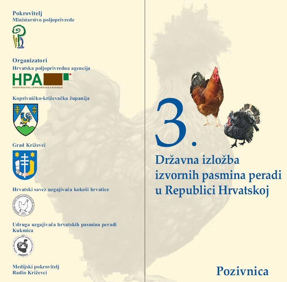 3. Državna izložba izvornih pasmina peradi u RH