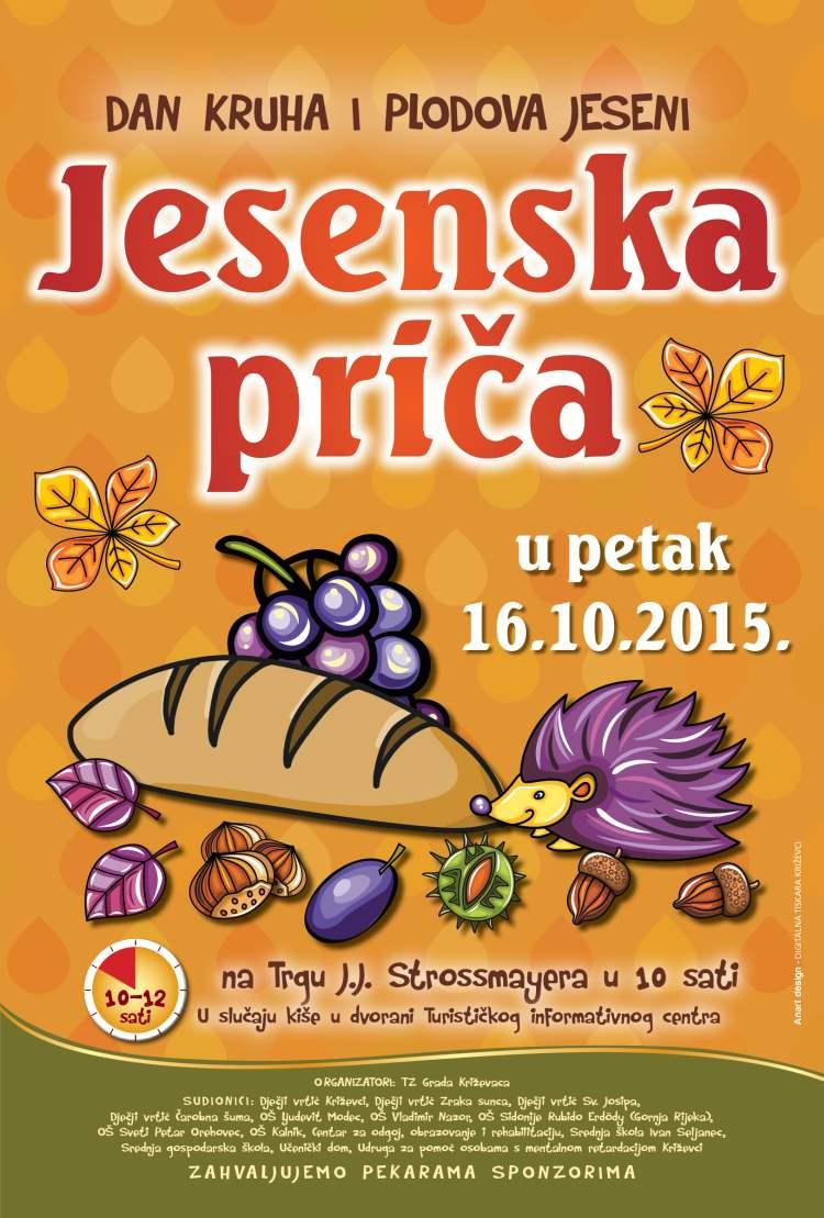 Jesenska priča - dan kruha i plodova jeseni (16.10.2015 od 10-12 sati, Križevci)
