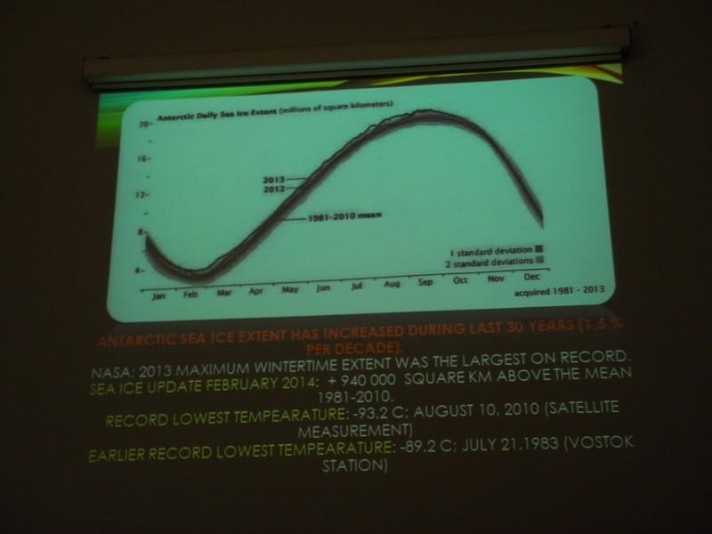 S prezentacije akademika Paara uz predavanje o klimatskim promjenama (foto: R.Matić)