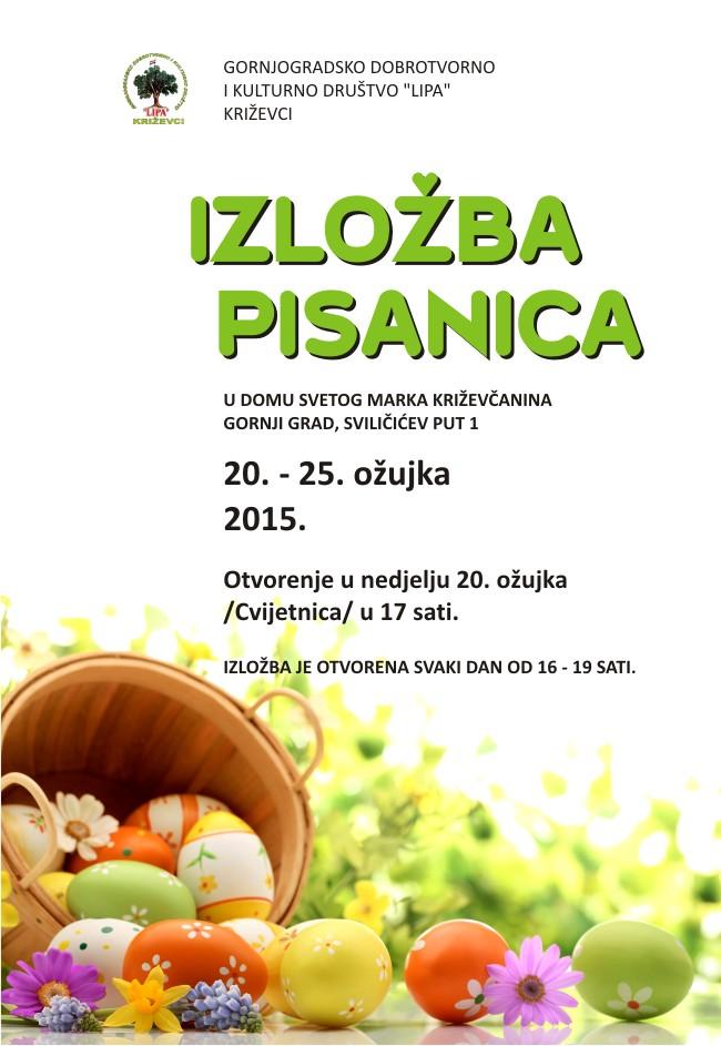 """Gornjogradsko dobrotvorno i kulturno društvo """"LIPA"""" izložba pisanica"""
