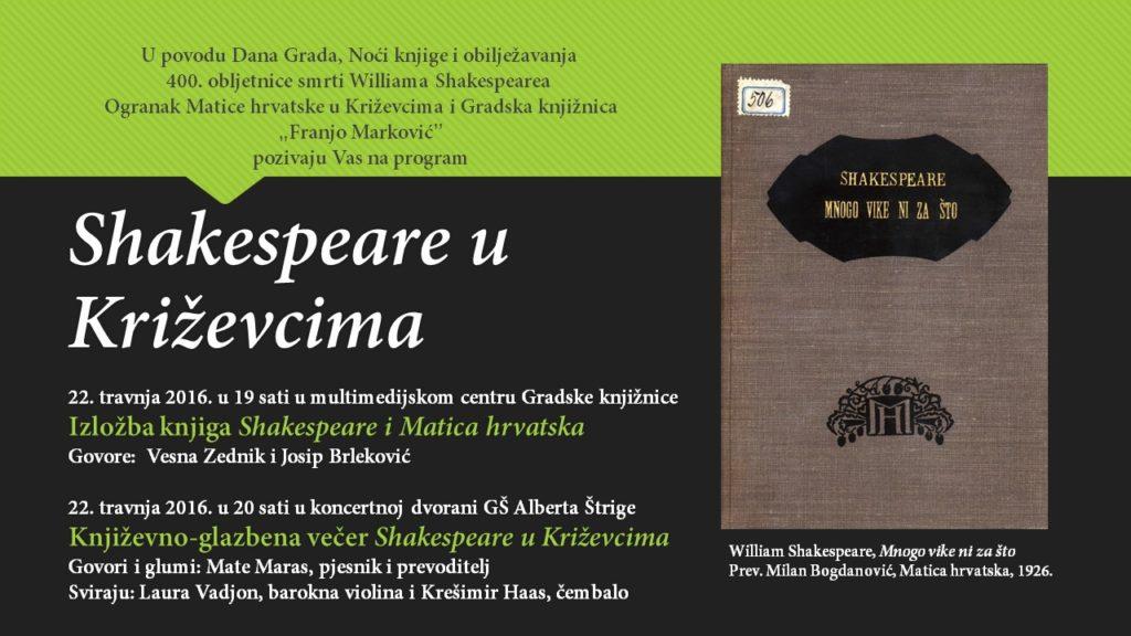 Shakespeare u Križevcima
