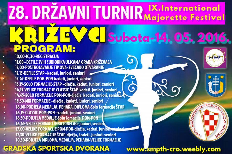 KRIŽEVCI 05 drzavno prvenstvo mazoretkinje 2016