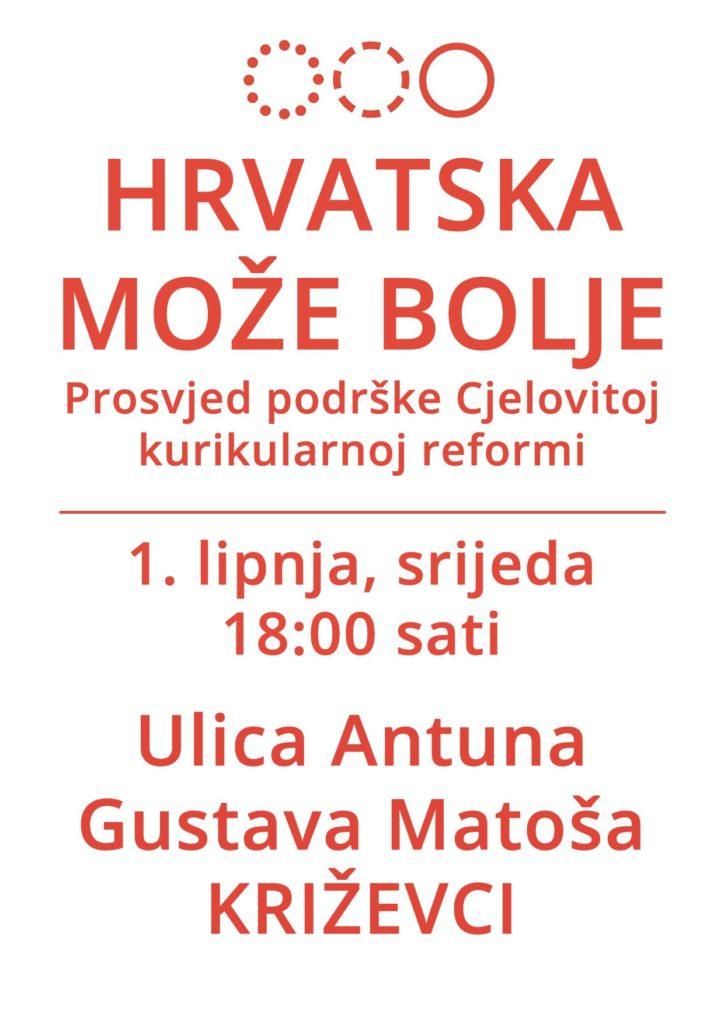 Poziv_prosvjed_Hrvatska_moze_bolje_Krizevci_plakat