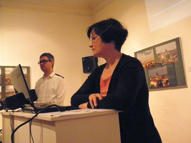 Predavači o kalničkim utvrdama u Likovnoj galeriji na ovogodišnji Dan muzeja (foto R.Matić)