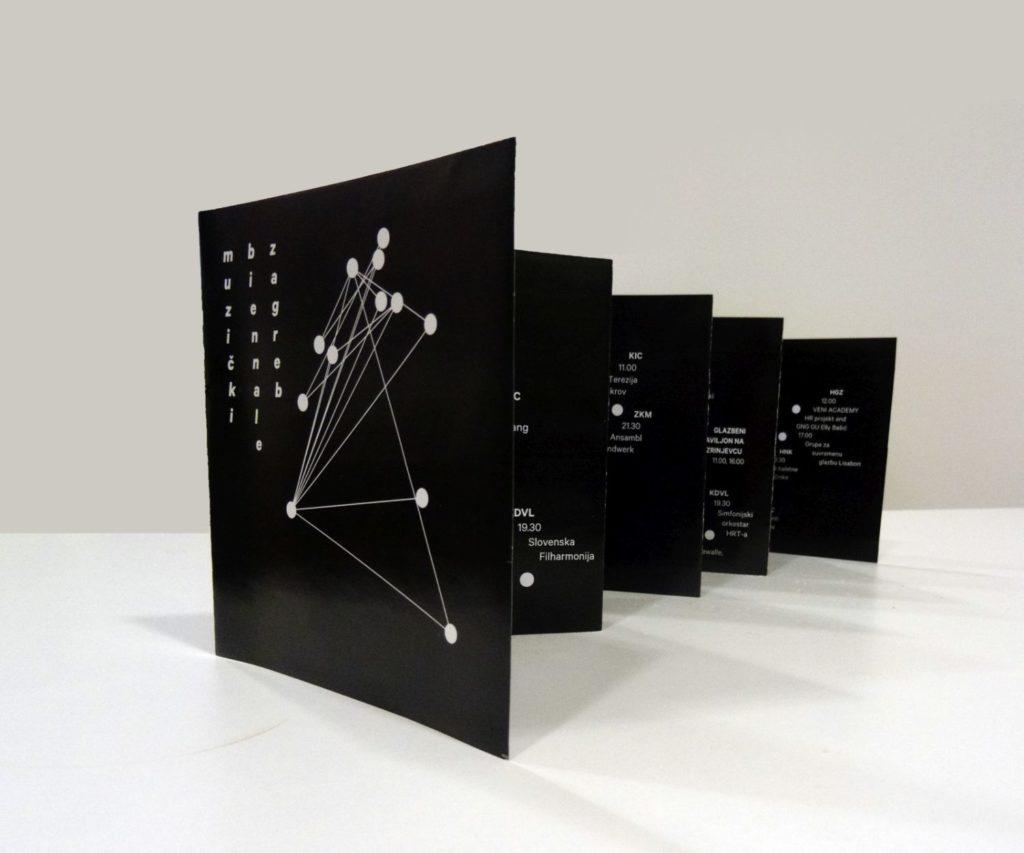 izgled brošure Muzički biennale Zagreb 2015 dizajn vanja šok izložba