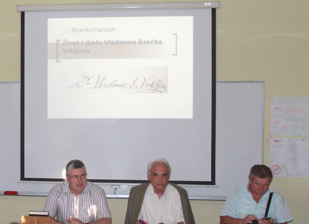 Predavanje o fizičaru Vladimiru Srećku Vrkljanu iz Sv. Petra Orehovca u njegovom rodnom mjestu 30. lipnja 2016. (foto Martin Vujić)
