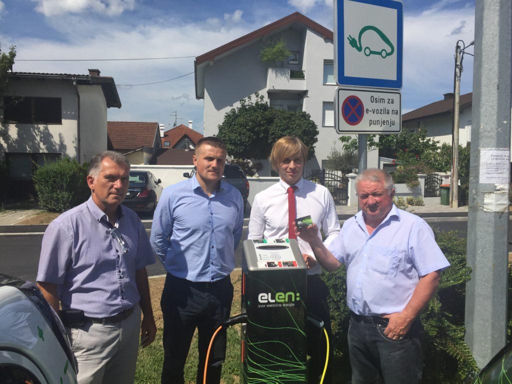 Pustanje u trajni rad ELEN punionice za elektricna vozila u Krizevcima