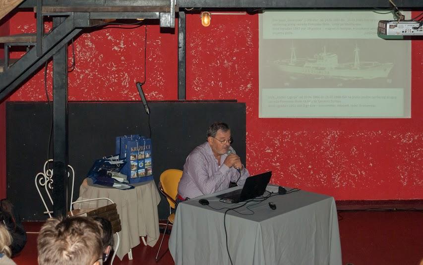 Kapetan Antun Gold na Pinklec festu 9. listopada 2015. u Klubu kulture u Križevcima (iz arhive Pinklec festa)