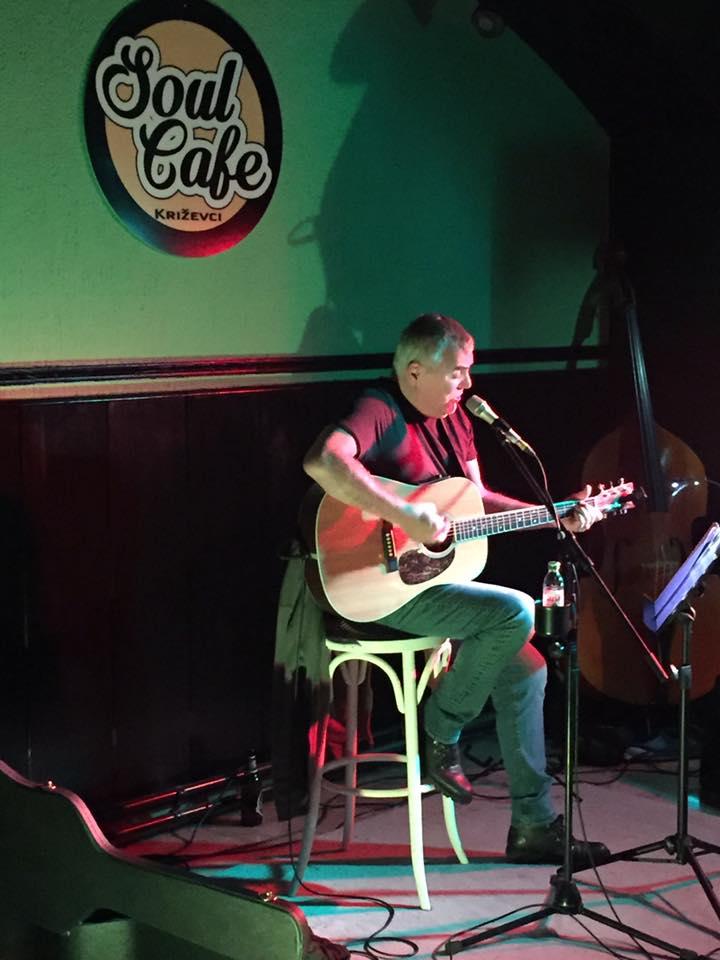 Zoran Predin u Soul Cafeu u Križevcima 12. studenoga (preuzeto s Facebook stranice portala)