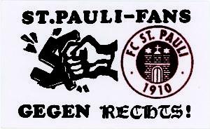 Nogometni klub St. Pauli ima izrazita antifašistička obilježja (Preuzeto s https://stickerkitty.com)