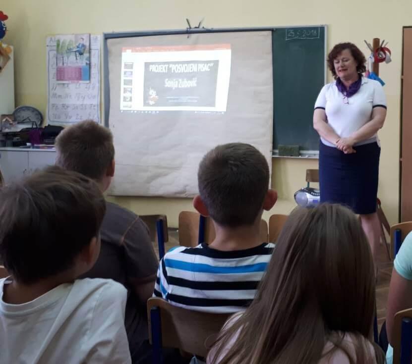 Projekt čitanja 'Posvojeni pisac' u OŠ Ljudevita Modeca Križevci