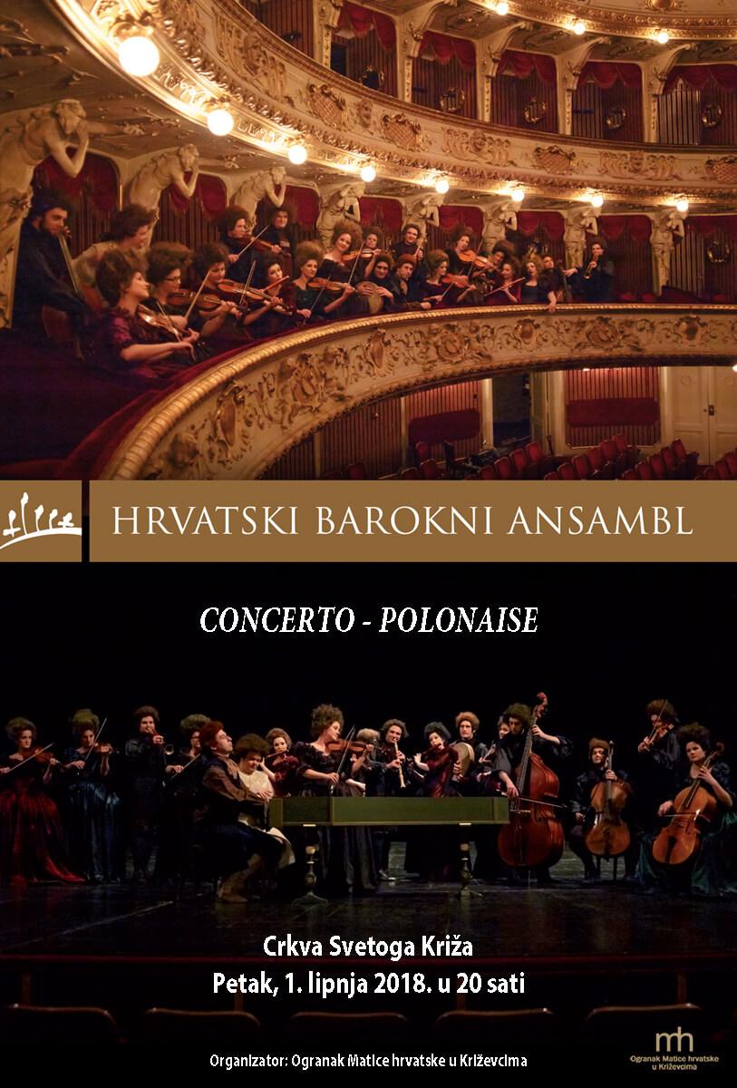 Ovog petka koncert Hrvatskog baroknog ansambla Concerto - polonaise