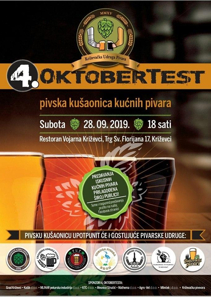 OktoberTest - pivska kušaonica kućnih pivara 2019 - Hosted by Križevačka Udruga Pivara