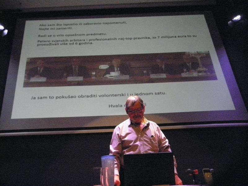 Predavanja o granici na moru između Slovenije i Hrvatske kapetana Antuna Golda u križevačkoj knjižnici 25, veljače 2020. (foto R.Matić)