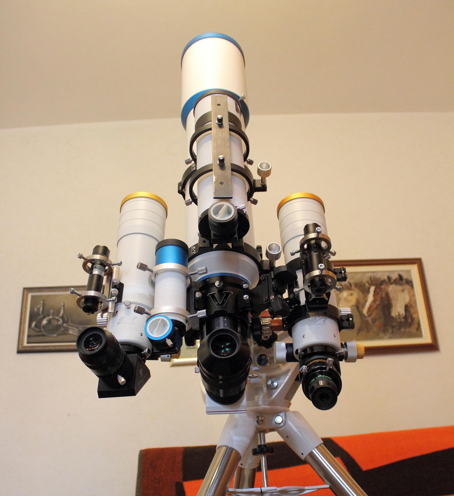 Teleskopi koji će biti sastavljani na izložbi (foto M.Vujić)