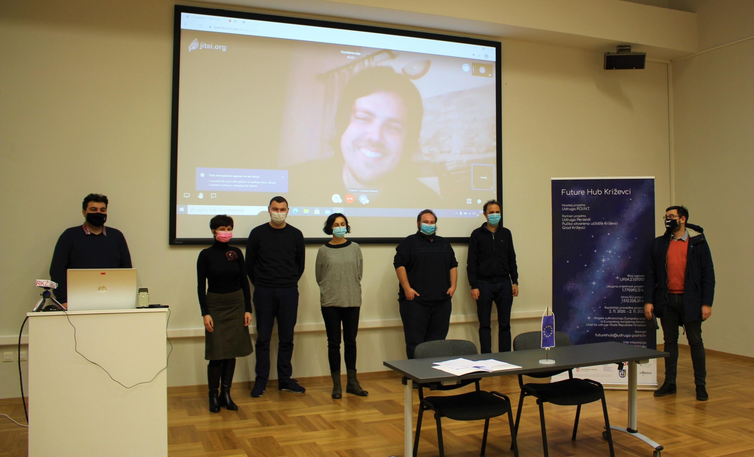 Sudionici konferencije o projektu Future Hub Križevci 10. prosinca (foto Ivana Šatrak)