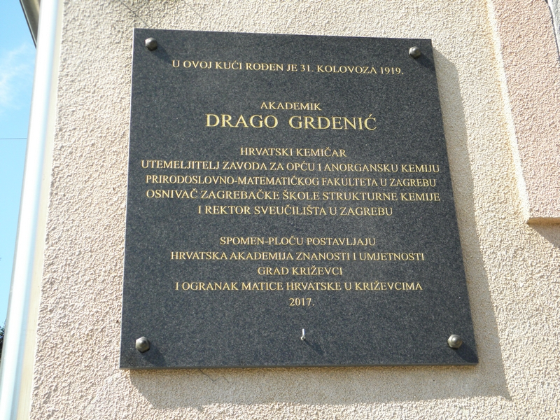 Spomen ploča na rodnoj kući Drage Grdenića (foto R.Matić)