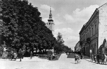 Fotografija središnje osi – Nemčićev trg (1960.g.) , osobna zbirka
