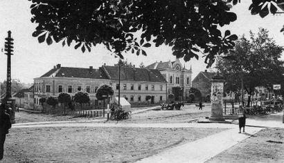 Fotografija Strossmayerovog trga – trgovište (1930.g.), osobna zbirka